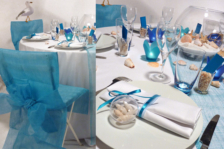 Deco de table theme plage d coration de maison contemporaine for Decoration maison theme mer