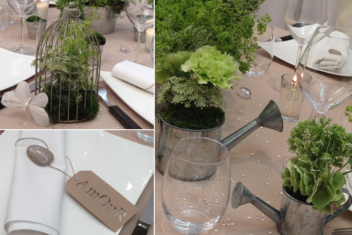 Table rabattable cuisine paris decoration de table theme nature - Decoration de table nature ...